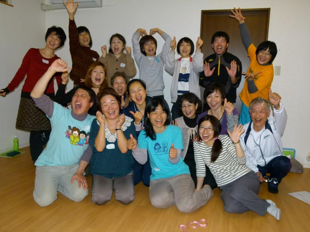 2012年新潟でのリーダー養成講座。 パワーあふれるみなさんでした♪