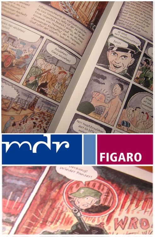 """Im MDR lief ein Interview für das Magazin """"figaro"""" über die neue Graphic-Novel """"I got Rhythm"""" © niels-schroeder"""