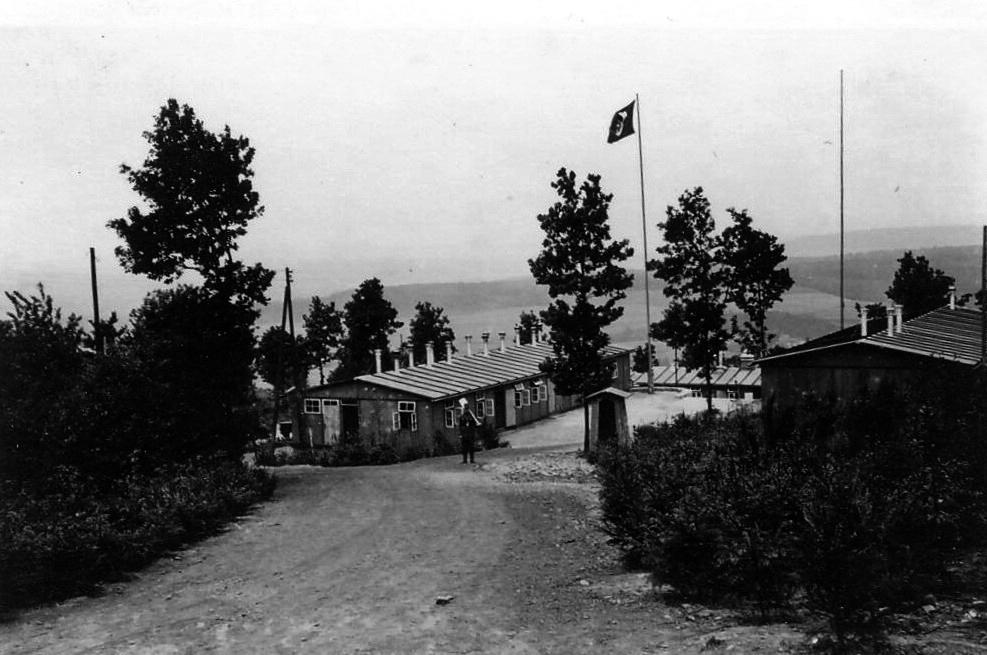 Einfahrt des RAD-Lagers Lebach