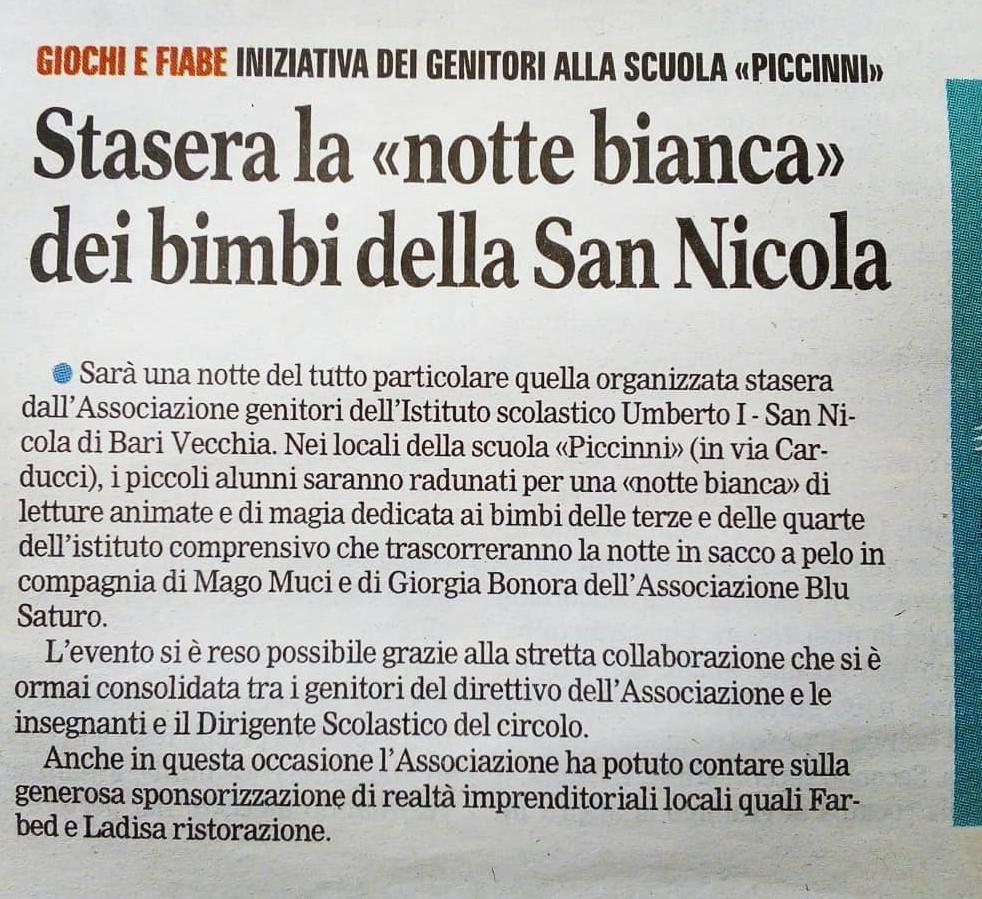 Gazzetta del Mezzogiorno - Bari 17-5-2019