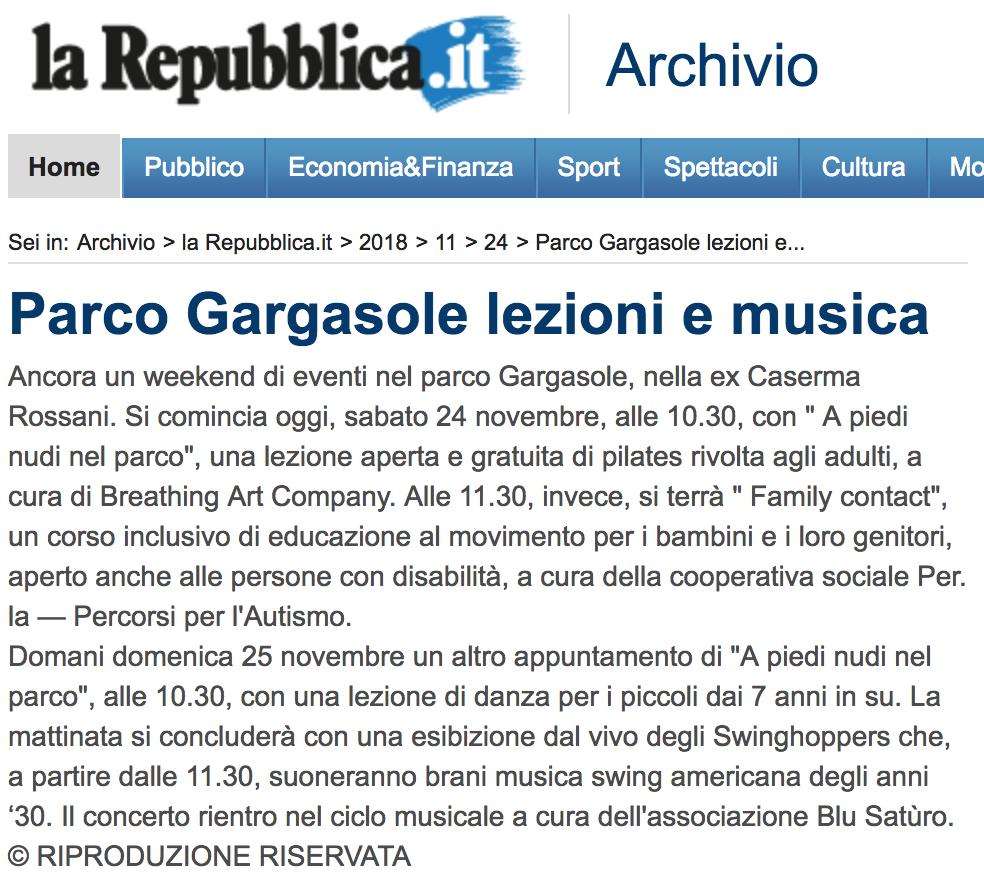 La Repubblica.it 24-11-2018