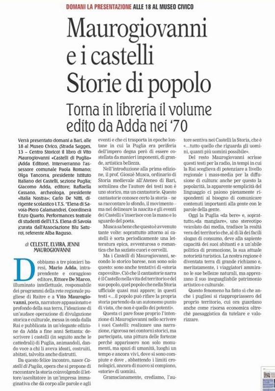 Gazzetta del Mezzogiorno 24-5-2018