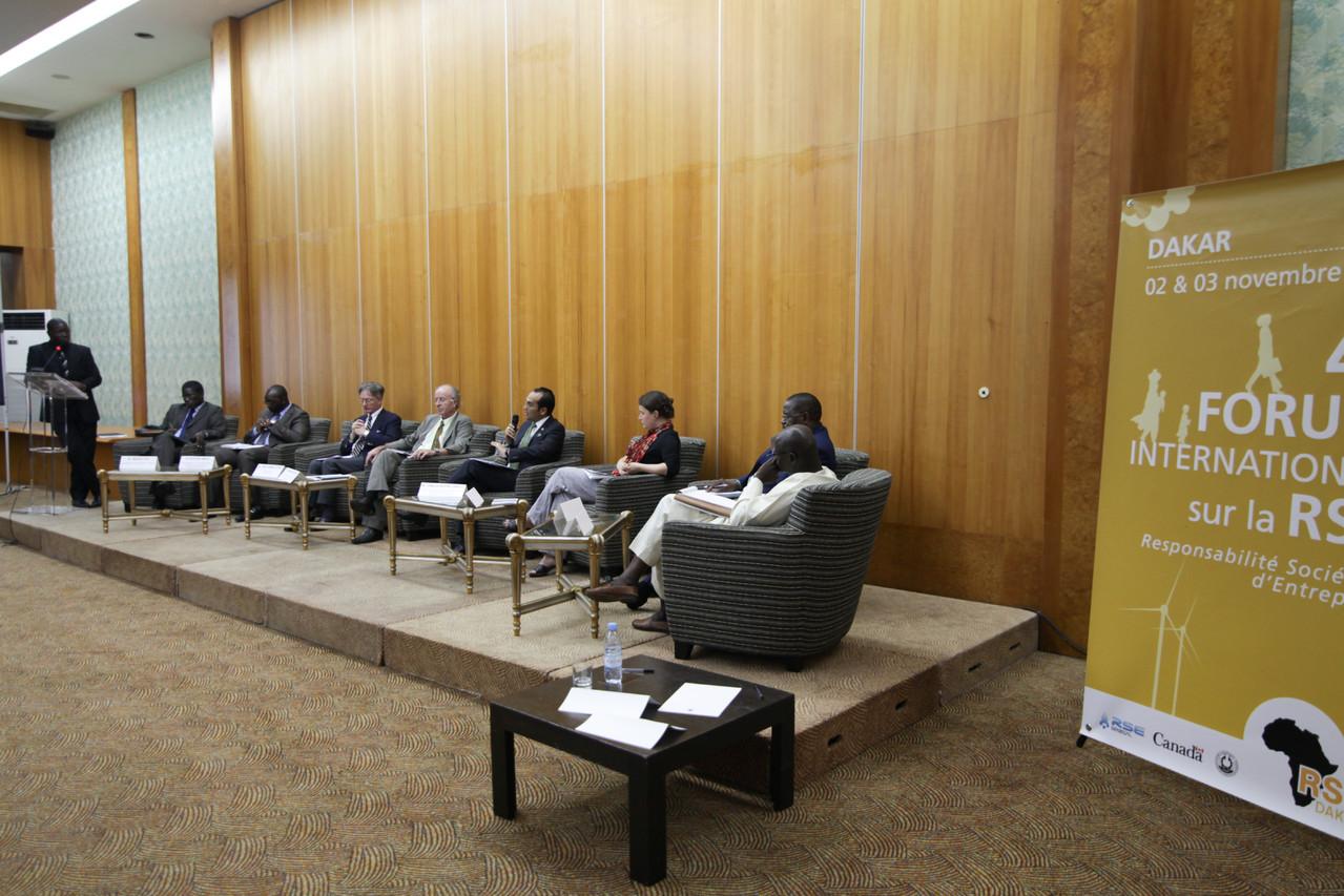 Forum RSE Senegal 2012 - panel de discussion