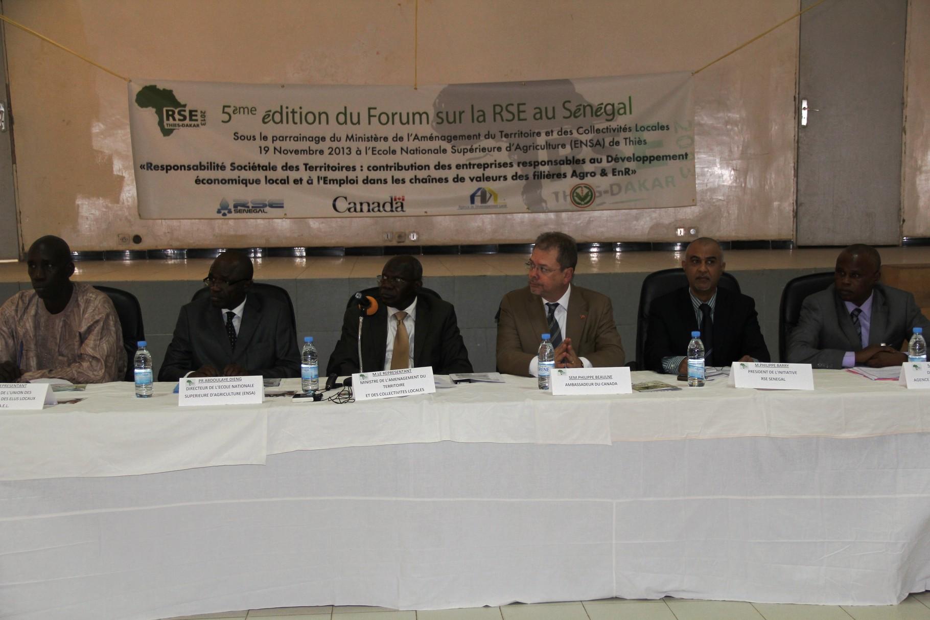 Forum RSE Senegal 2013 - parrainage : Ministère Aménagement du Territoire et Décentralisation