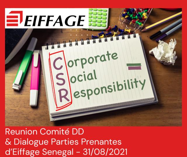 RSE- Le Comité DD&DPP d'Eiffage Sénégal fait une première revue de ses activités RSE