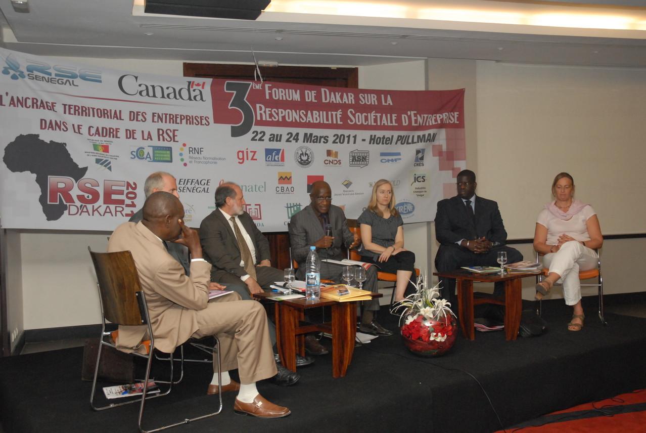 Forum RSE Senegal 2011 - panel de discussion