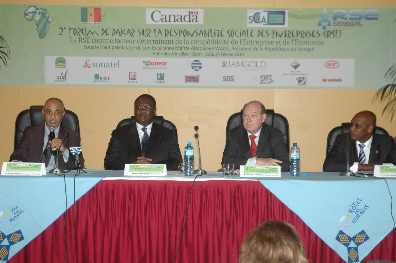 Forum RSE Senegal 2010 - parrainage : ministère chargé de l'Industrie
