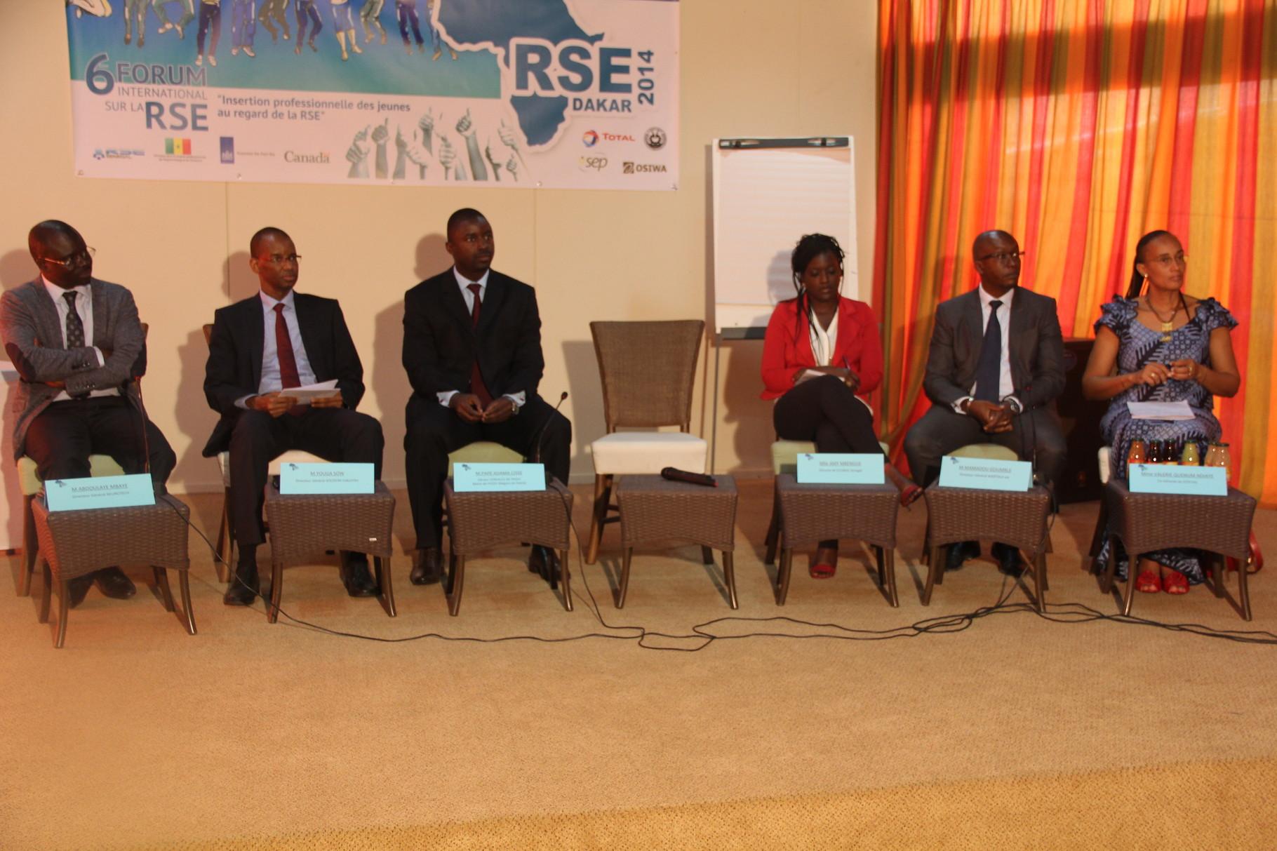 Forum RSE Senegal 2014 - panel de discussion Atelier 1