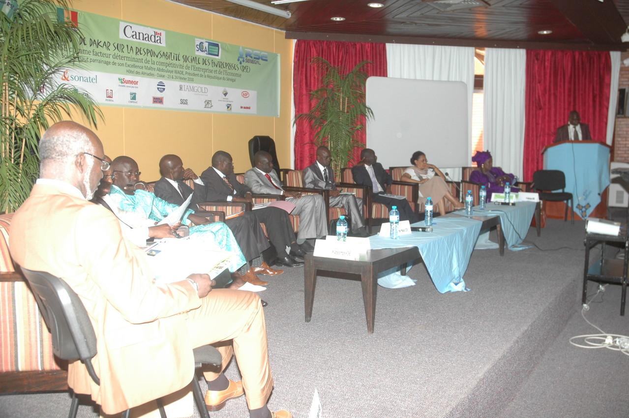 Forum RSE Senegal 2010 - panel de discussion