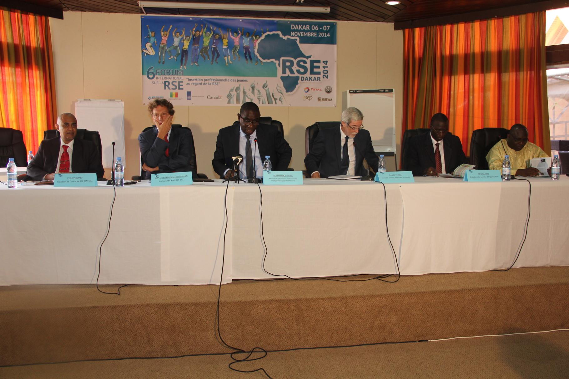 Forum RSE Senegal 2014 - parrainage : Ministère chargé de la Formation Professionnelle