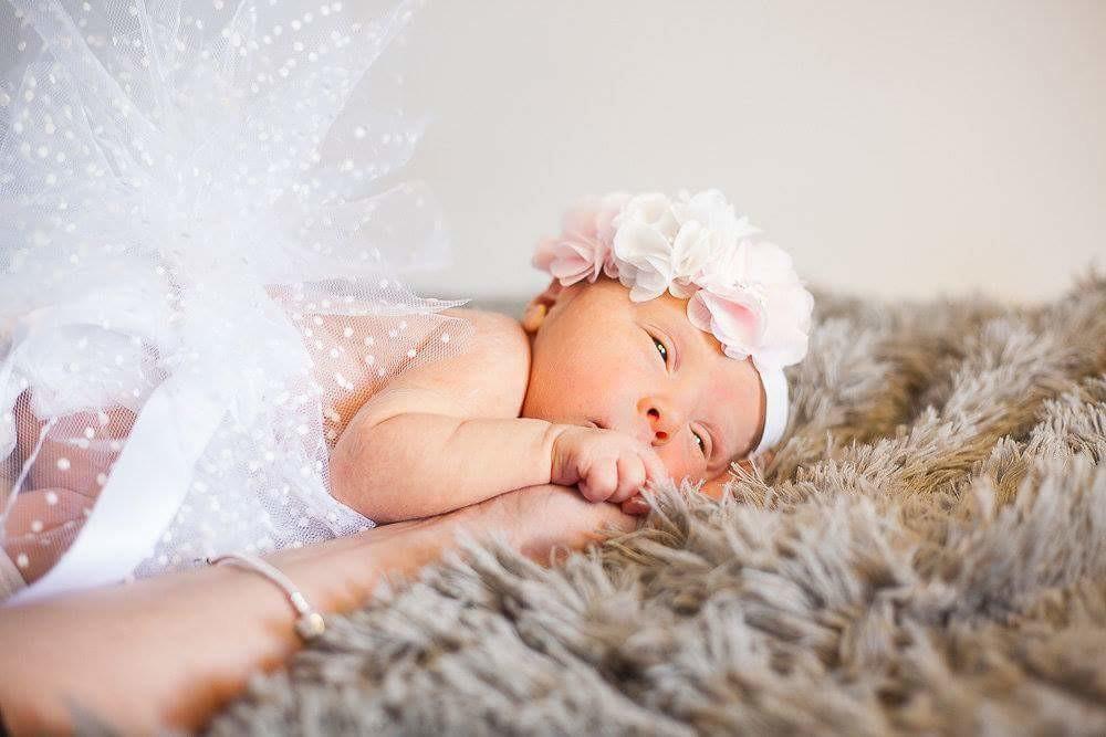 tutu headband bébé naissance pour séance photo