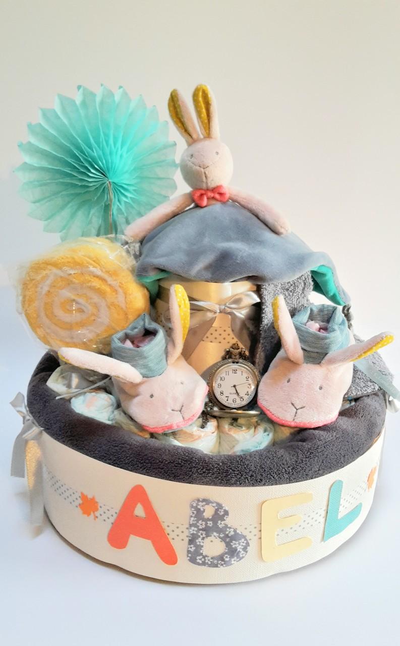 """gâteau de couches Lapin """"Alice au Pays des Merveilles"""""""