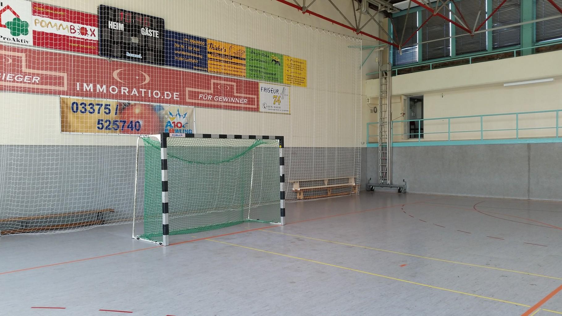 Handball-Tornetze und Ballfangnetze Sporthalle Wildau Berlin