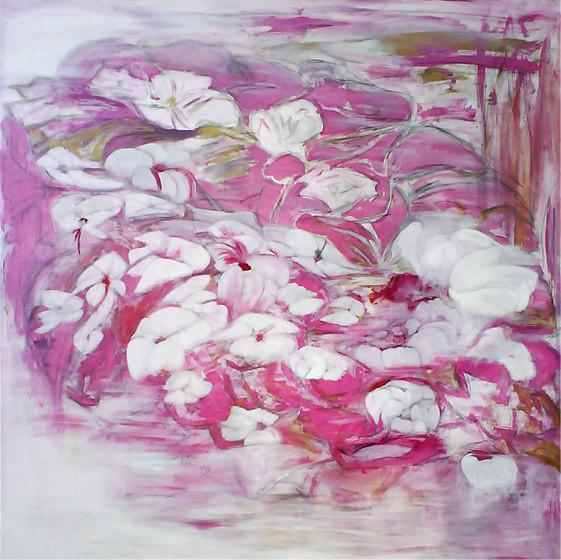 FAIRYTALE FLOWERS  ÖL  120 x 120