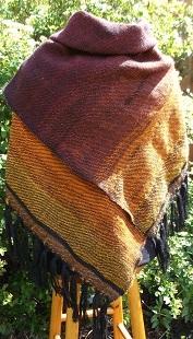 handgewebtes Tuch Kaminfeuer aus handgesponnenen Garnen
