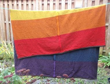 Handgewebte Regenbogen Decke