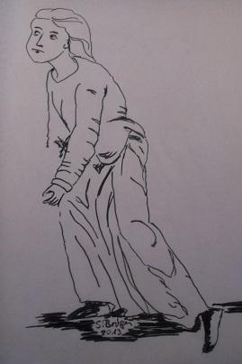 ein Bild aus dem Hortus delicarum dieht als Vorlage für mein Kleid
