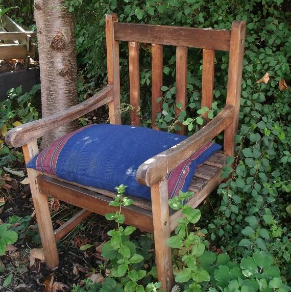 isolierendes Sitzkissen aus Wolle, gefüllt mit Wolle