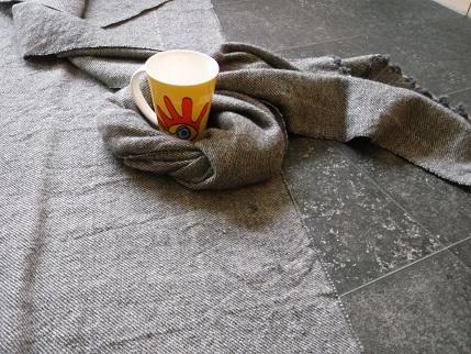 handgewebter Stoff für ein mittelalterliches Skapulier