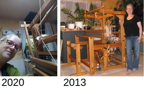 neuer und alter Webstuhl