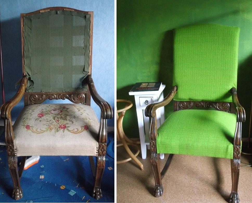 Möbelstoff : Der Stuhl mit den Löwenfüßen