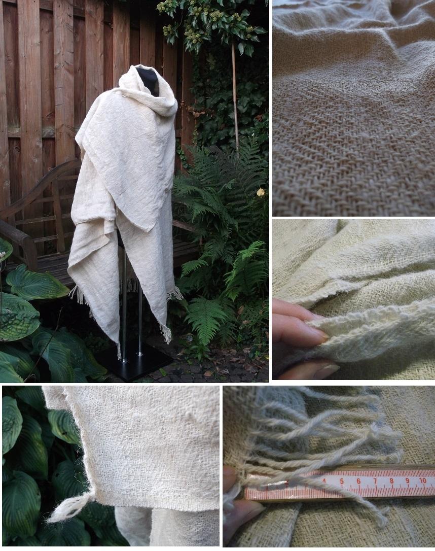 Nacharbeitung des Bernuthseld Mantels : die fertige Decke, angewebte Borte mit Ecklösung, Schlauchkante