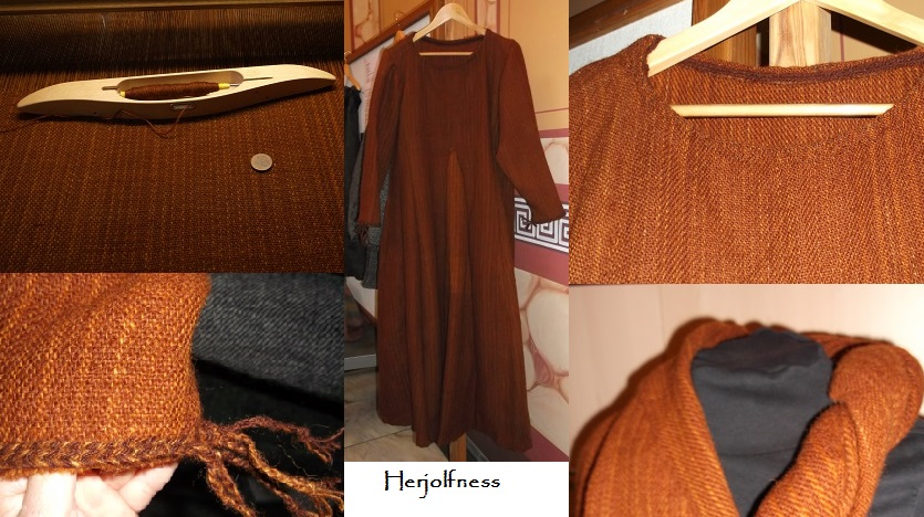 das von Idunn gefertigte Kleid nach Herjolfness - danke liebe Idunn das Du es mitgebracht und gezeigt hast !
