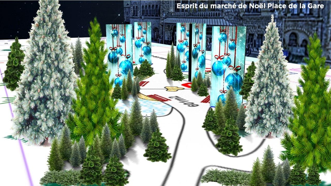 Marché de Noël Metz 2016 Place de la Gare - Animation 3