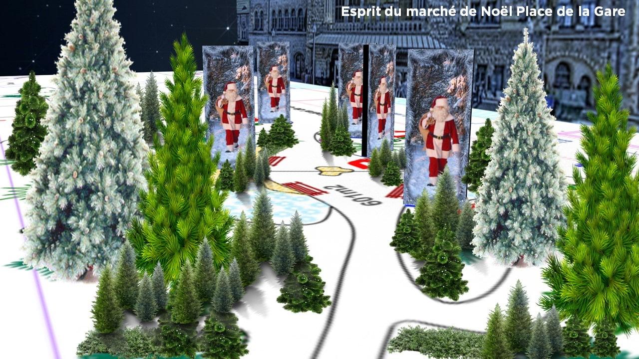 Marché de Noël Metz 2016 Place de la Gare - Animation 1