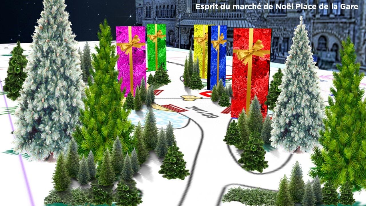 Marché de Noël Metz 2016 Place de la Gare - Animation 2