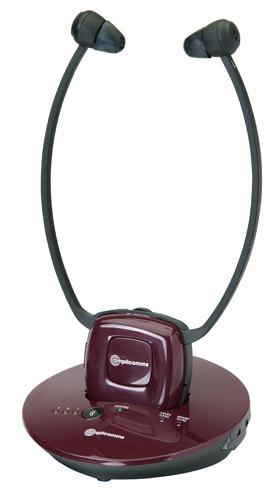 dratloser TV-Kopfhörer / Kinnbügelhörer