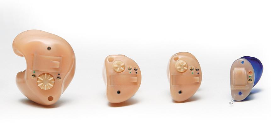 Im-Ohr-Geräte in unterschiedlichen Bauformen