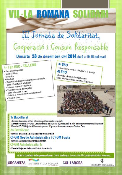 cartell III jornada solidaritat cooperacio i consum responsable