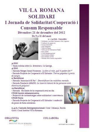 I jornada solidaritat cooperacio