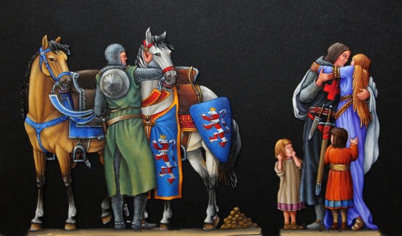 Abschied Elsabeth von Thüringen von Ihrem Gatten Landgraf Ludwig IV zum 5- Kreuzzug 1227