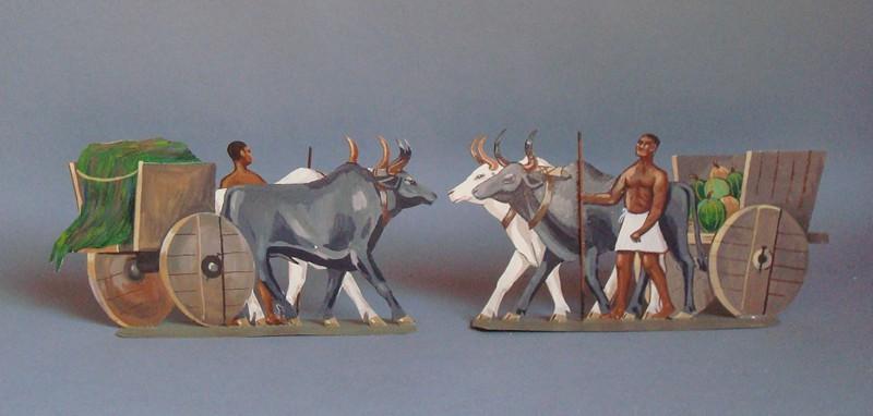 Schachtel 019 - Bild 4 - Ägypten Ochsenwagen
