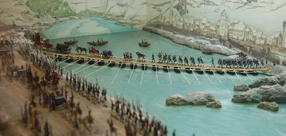 1814 Kaub Übergang über den Rhein