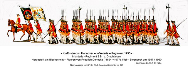 Schachtel 121 - Hannover Infanterie 1753 yk