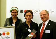 "Preisverleihung ""Deutschland - Land der Ideen"" 2008 an Creare!StartUp"