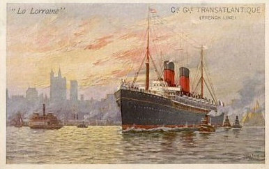 SS La Lorraine (contemporary postcard: www.searlecanada.org)