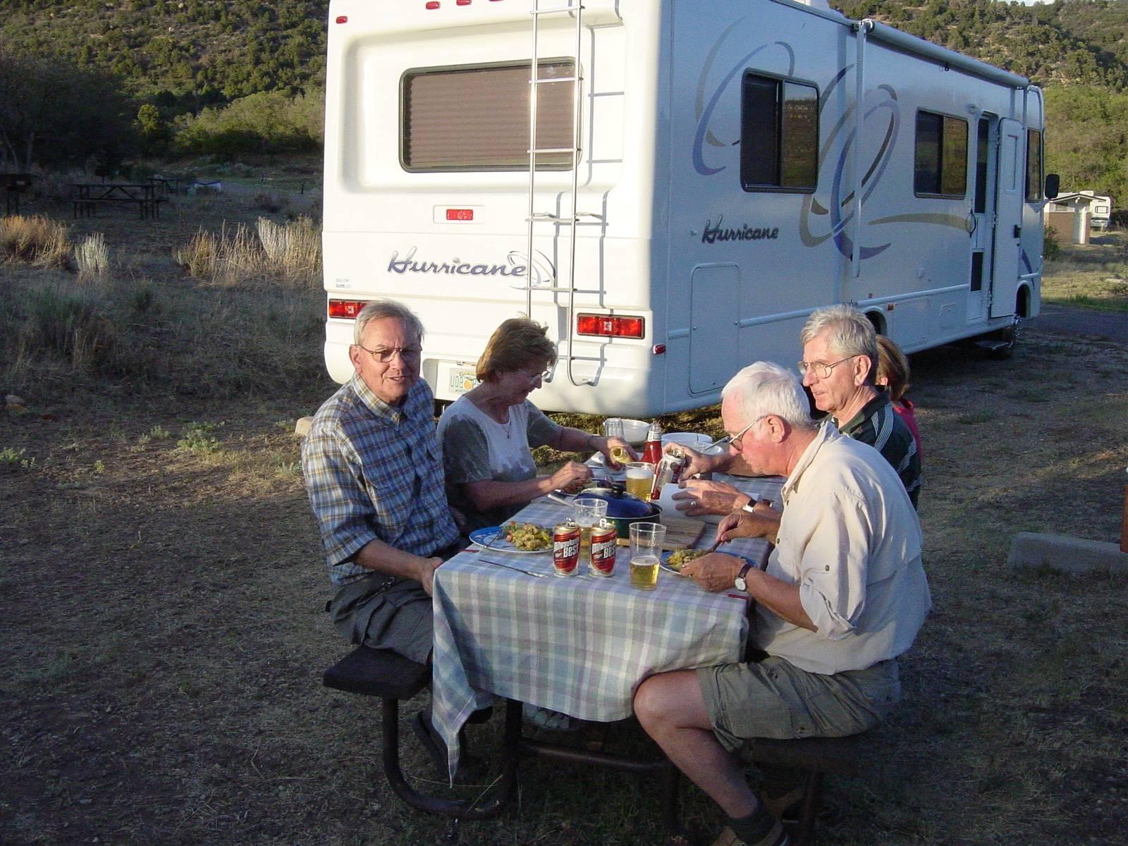 Abendessen im Morefield Campground