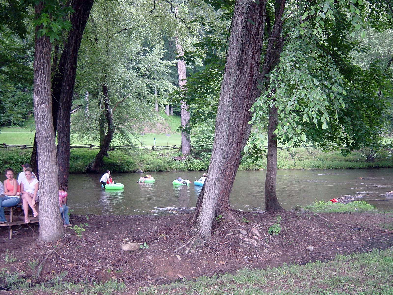 Independence Day, Chattahoochee River in Alpine Village of Helen