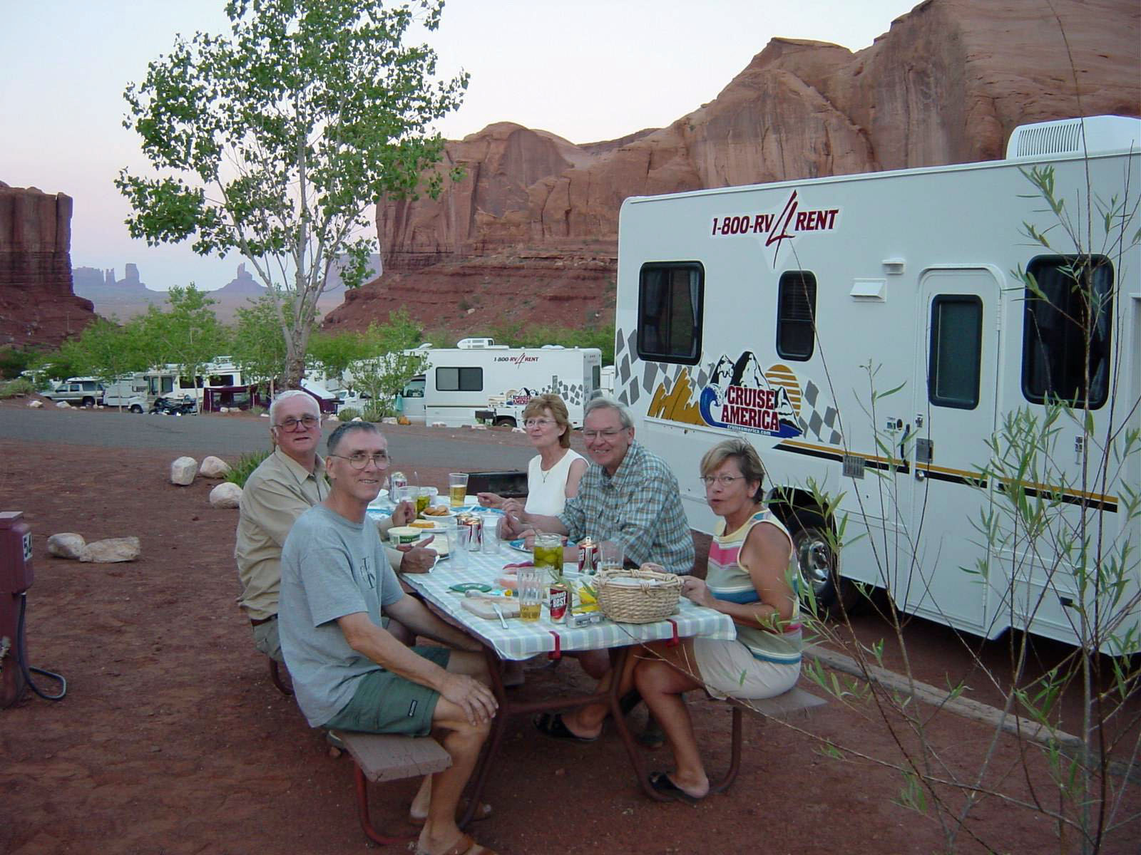 Abendessen im Goulding's Monument Valley RV Park