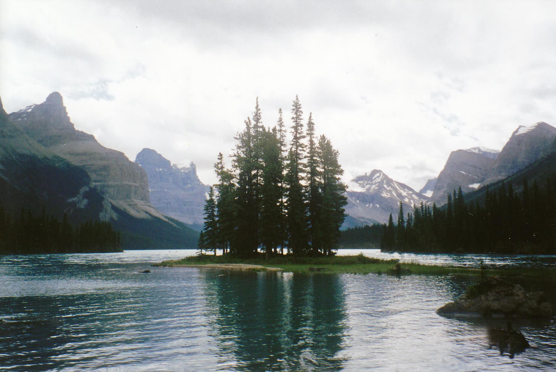 Isle of Spirit, Maligne Lake, Jasper-Nationalpark, Alberta, Kanada