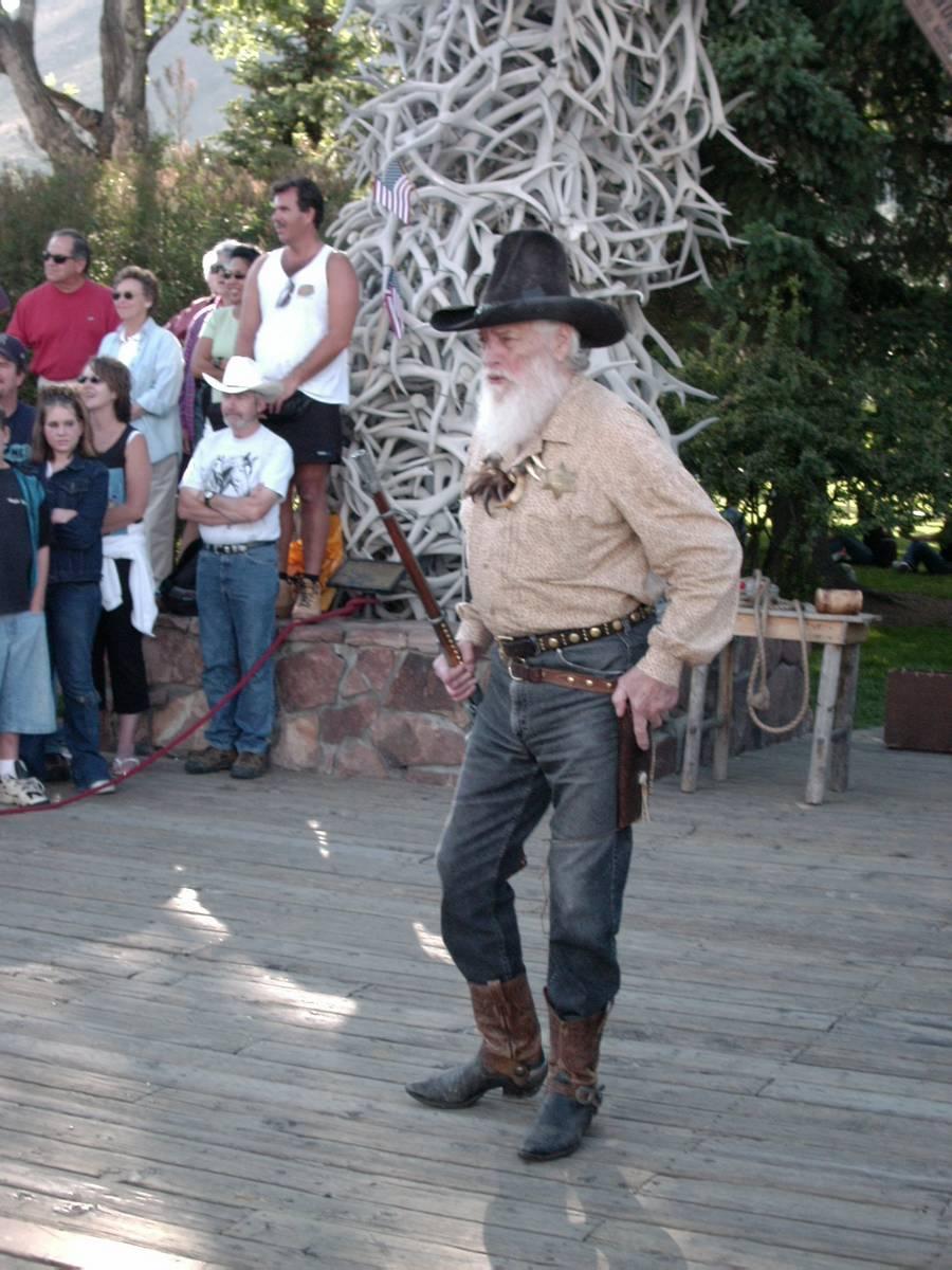 Spektakel der Cowboys und Postkutschenräuber, Jackson