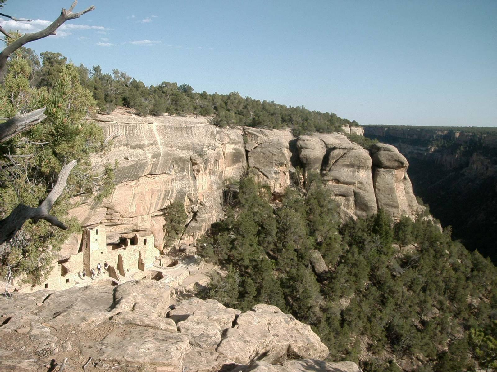 Blick zum Cliff-Palace