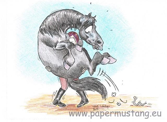 Schreckhafte Pferde / Spooky horses - Papermustang - horse ...