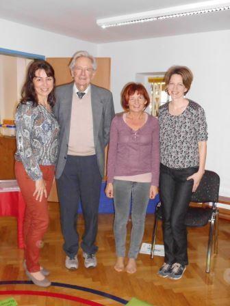 ...auch die Leitung des KIGA Mooskirchen, Maria Gößler, die sein Programm schon seit 10 Jahren erfolgreich umsetzt, war dabei...