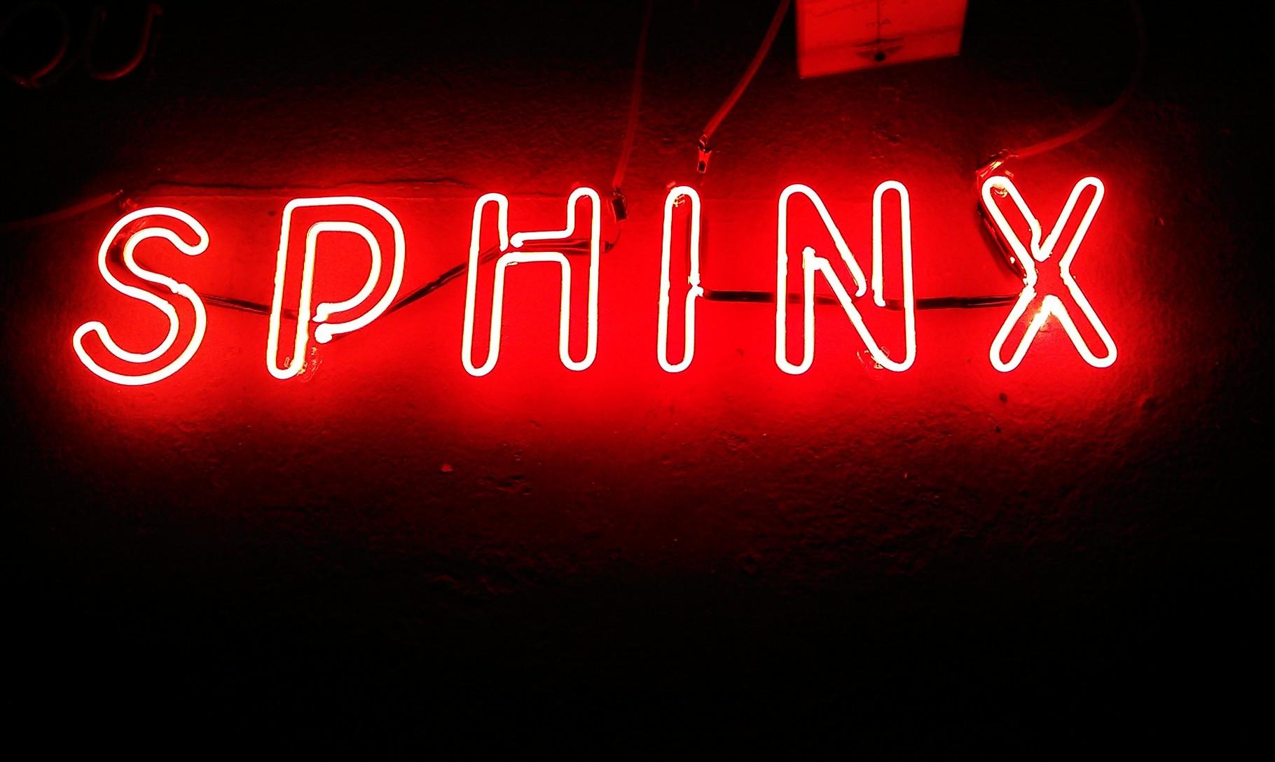 Neonschrift : Sphinx // Neonjoecks Berlin