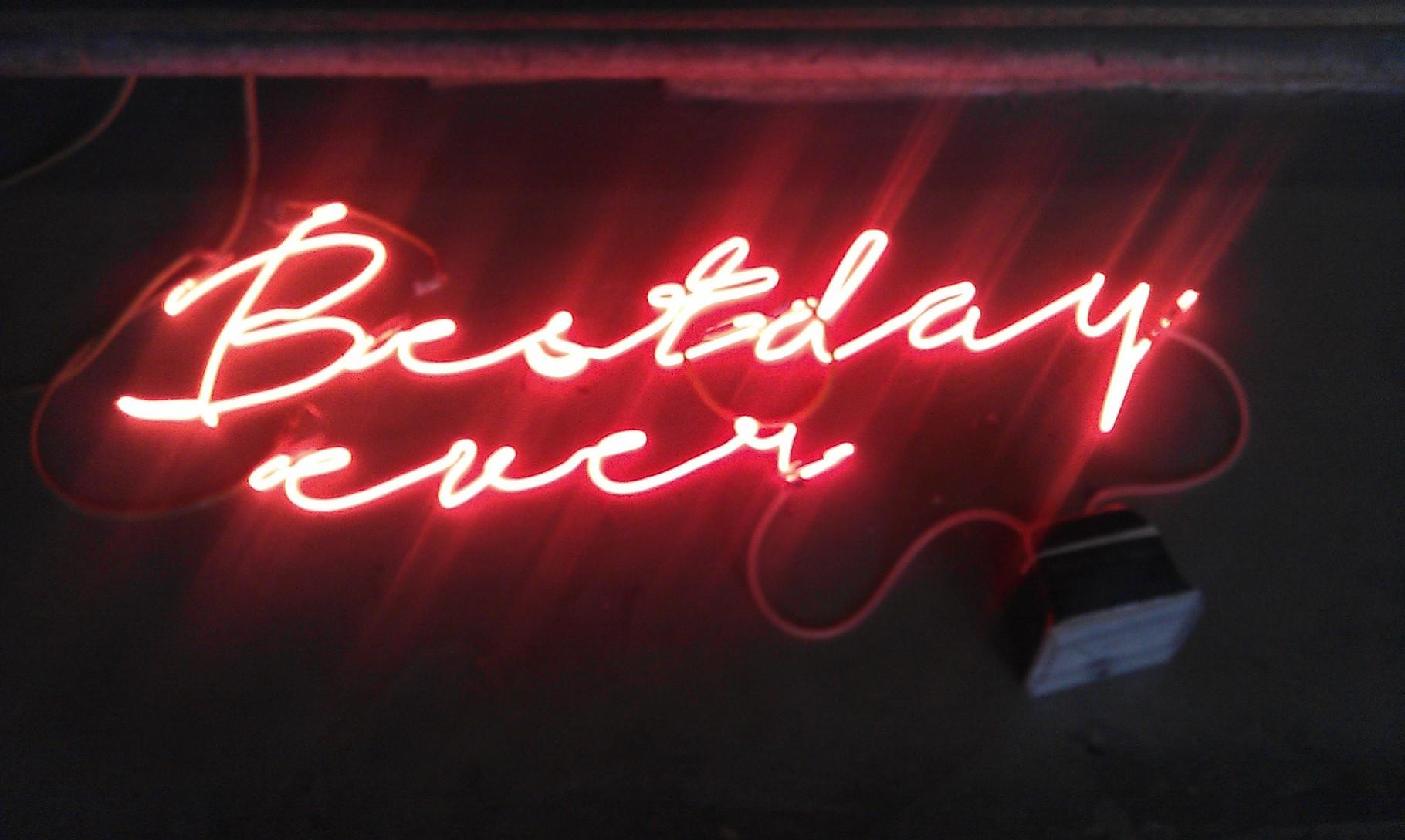 Neon Leuchtschrift Berlin // Joecks  für Masashi Echigo
